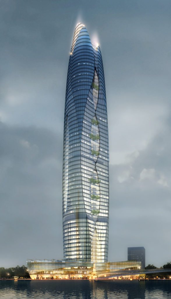 Much-better-than-average CAD rendering effort, Shao Xing Tower.